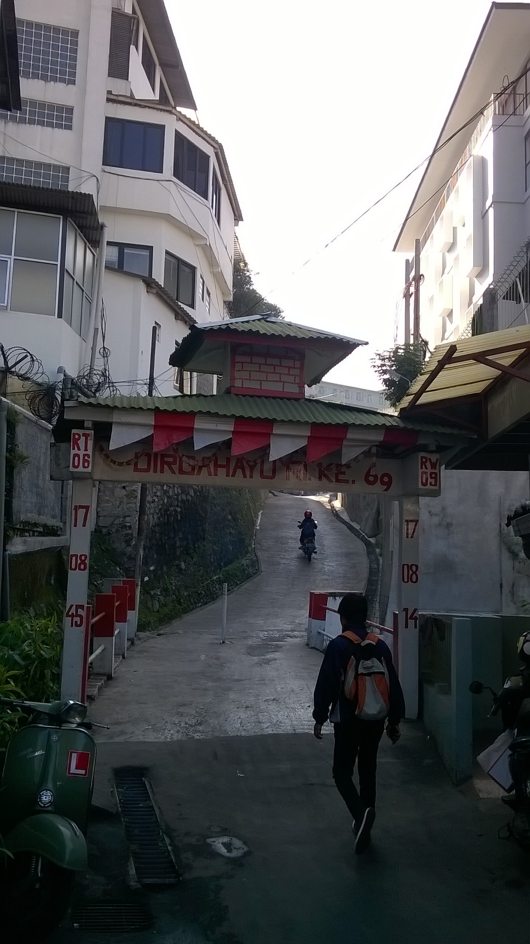 A small alley with simple gate
