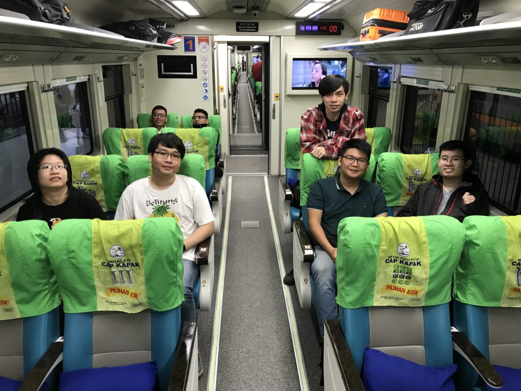 Picture of Bandung team in the train