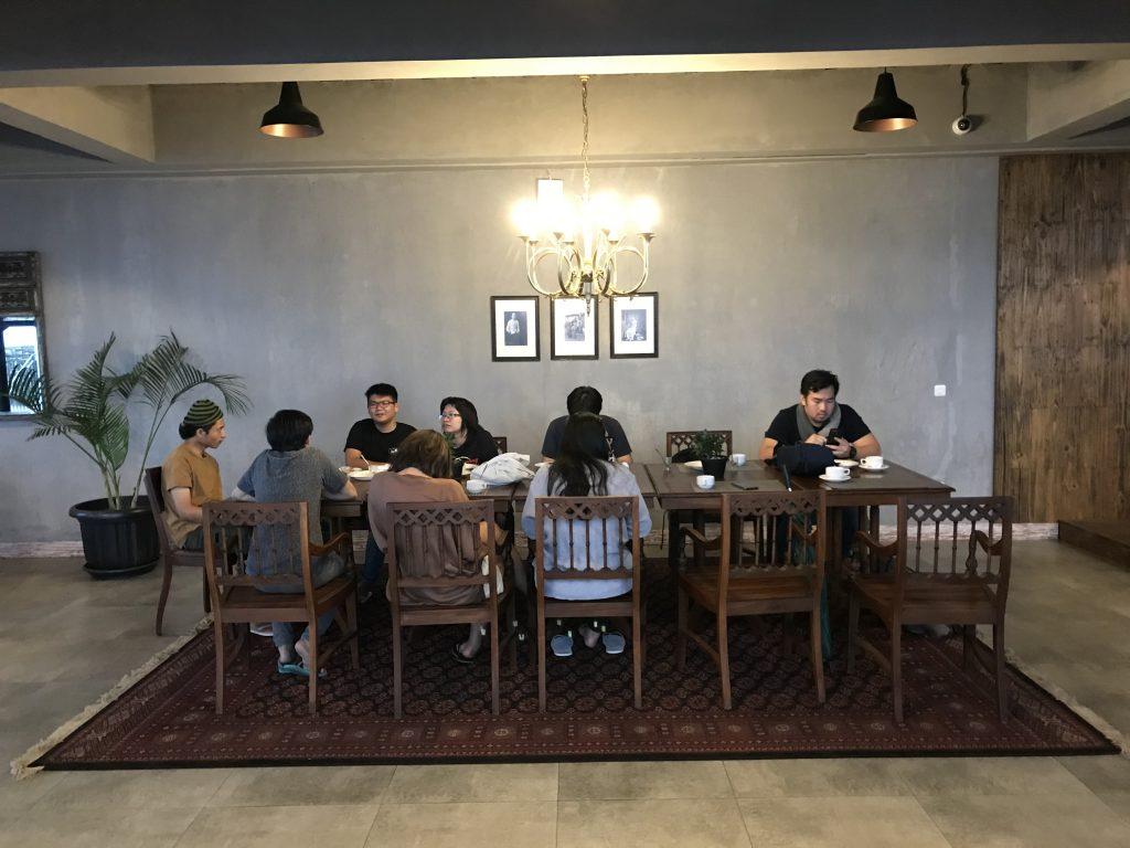 DNArtworks Team at the hotel restaurant